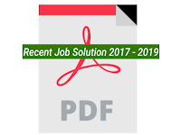 Recent Job Solution 2017 - 2019 - PDF  ফাইল