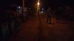 Manunggalnya TNI-Rakyat, Satgas TMMD Tapsel Giat  Ronda Malam