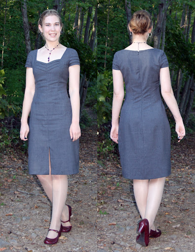 Marfy 2733: Sheath Dress (lightweight Gladson worsted wool suiting)