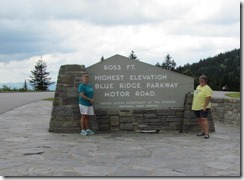 BRP highest elevation 6053 ft
