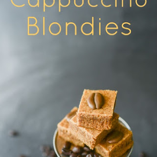 Addictively Delicious Cappuccino Blondies Bar Cookie.