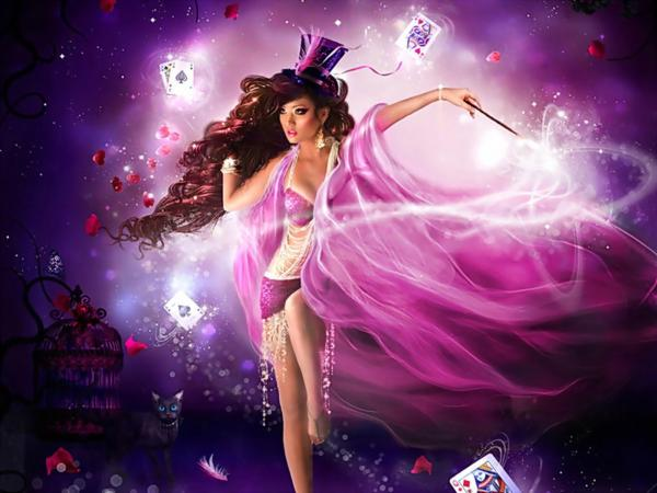 Spell Of Pink Witch, Wicca Girls