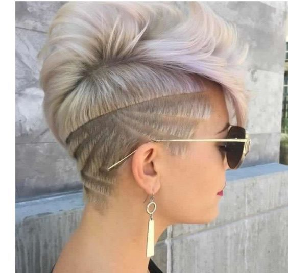 AMAZING COLORFUL UNDER CUT HAIR STYLES FOR WOMEN 5