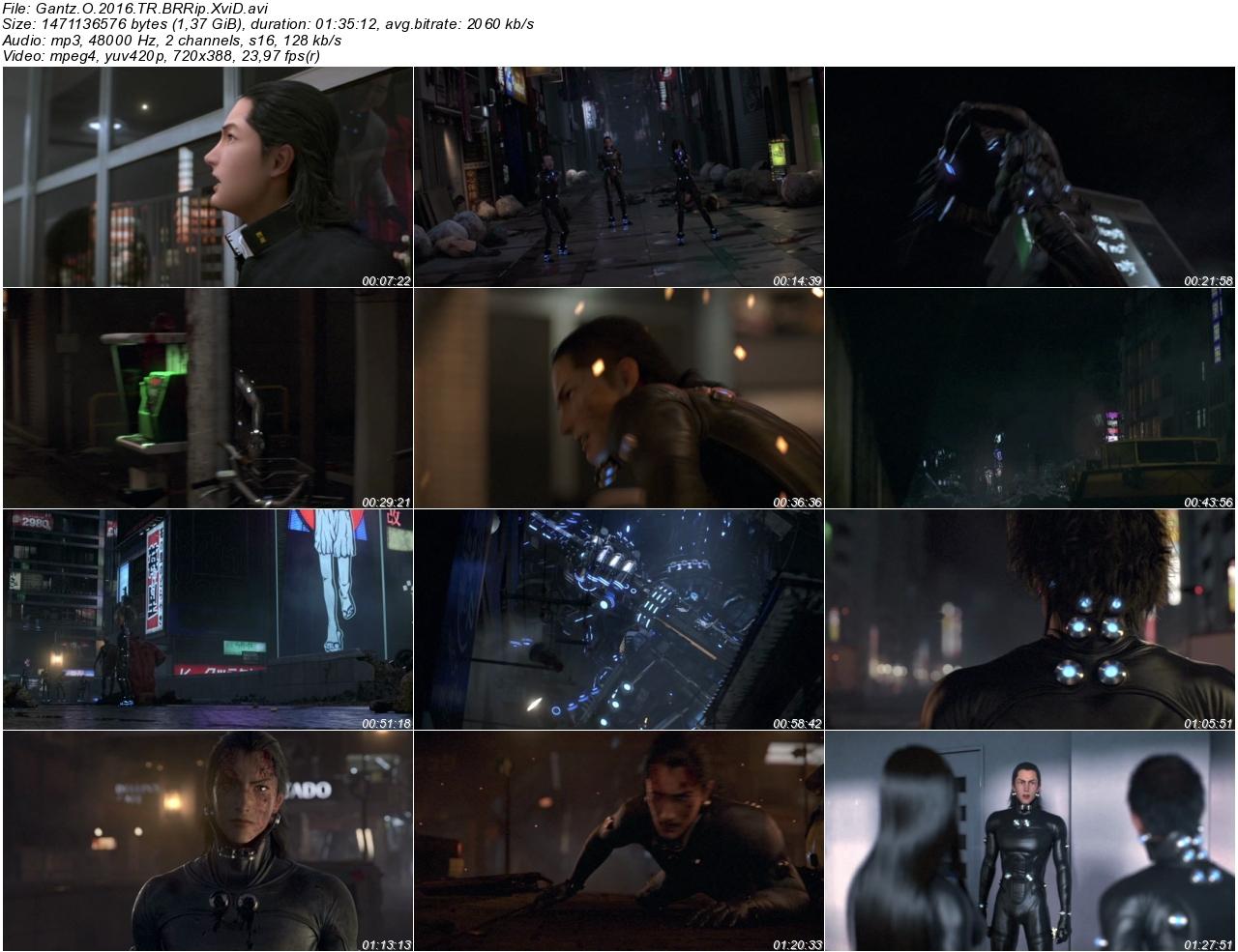 Gantz O 2016 - 1080p 720p 480p - Türkçe Dublaj Tek Link indir
