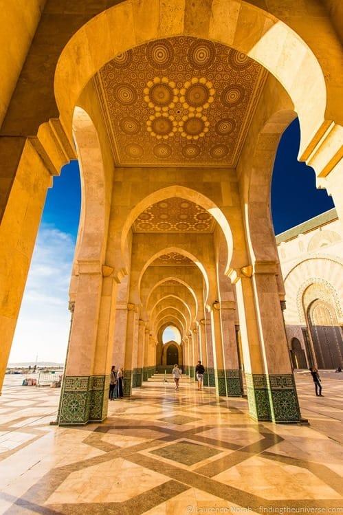 Exterior of  Hassan II Mosque Casablanca Morocco 5
