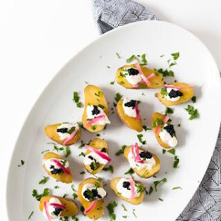 Mini Potato-Caviar Bites