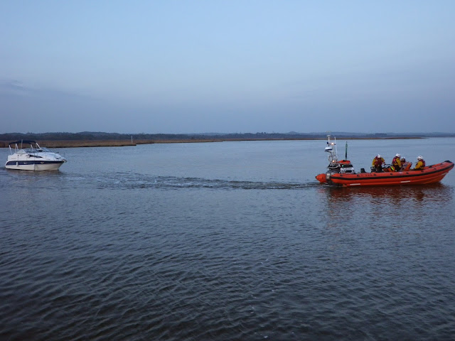 View from the ALB of the ILB towing the motor cruiser - 31 October 2014. Photo credit: Dave Riley