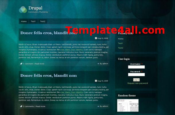 Dark Green Drupal 7 Theme