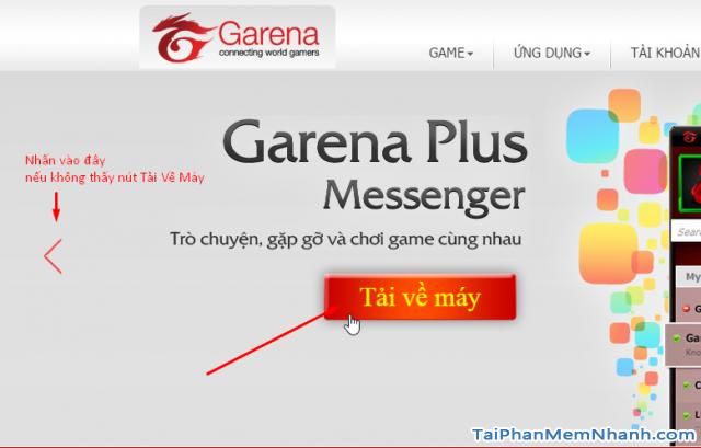 Tải Garena Plus Messenger về máy