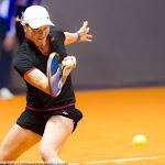 STUTTGART, GERMANY - APRIL 16 : Katharina Gerlach in action at the 2016 Porsche Tennis Grand Prix