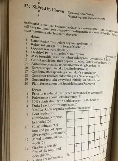 Shared Squares by Convar - Squashwords