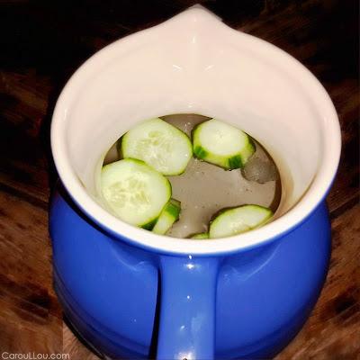 CarouLLou.com Carou LLou tasting water cucumber+