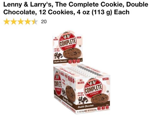 كوكيز البروتين النباتي Lenny & Larry's, The Complete Cookie