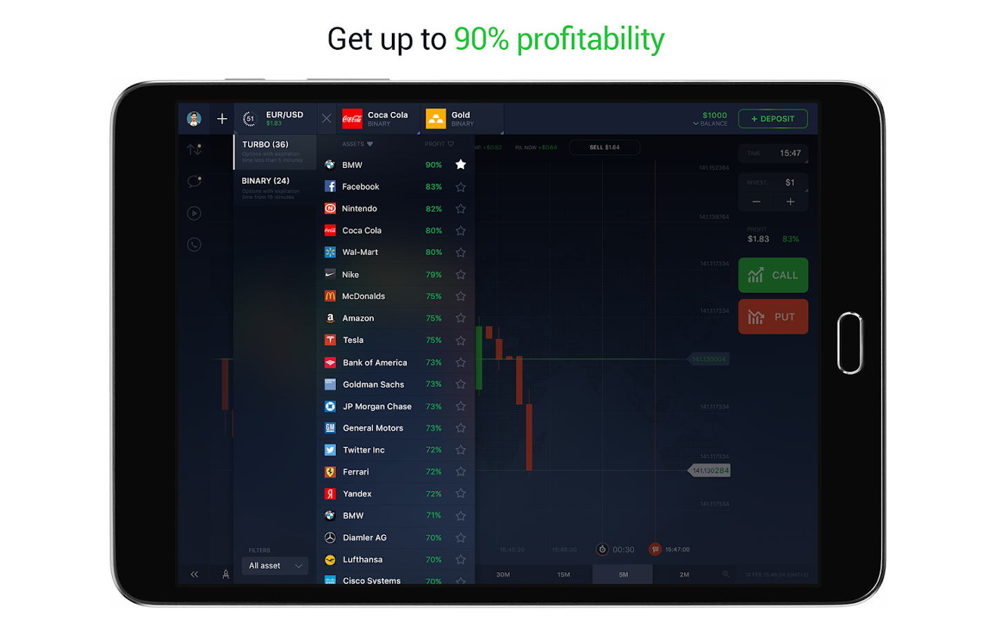 IQ Option - Binary Options- screenshot