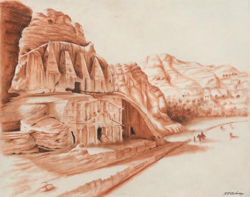 Tomb in Petra, Jordan.