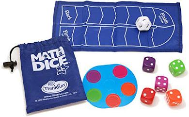 Math Dice juego para practicar sumas y restas