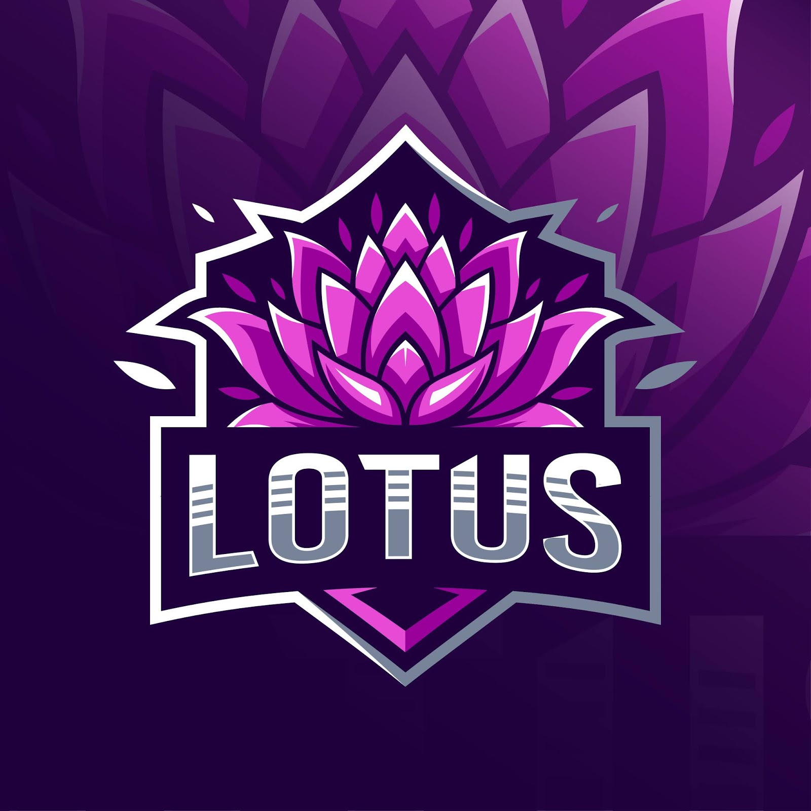 Lotus Logo Esport Free Download Vector CDR, AI, EPS and PNG Formats