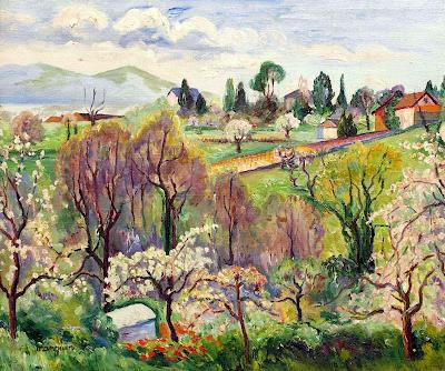Henri-Charles Manguin - Paysage de Suisse au printemps