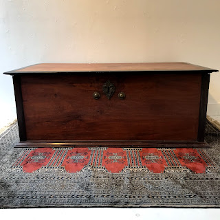 Antique Mahogany Coffer