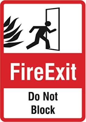 Tanda Pintu Darurat Kebakaran, Jangan Diblokir