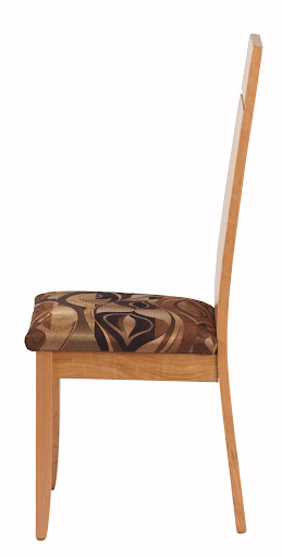 Adagio Chair in Natural Cherry, Fabric Seat