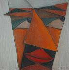 126 - Usbeck - 2005 50 x 50 - Acrylique Technique mixte sur toile