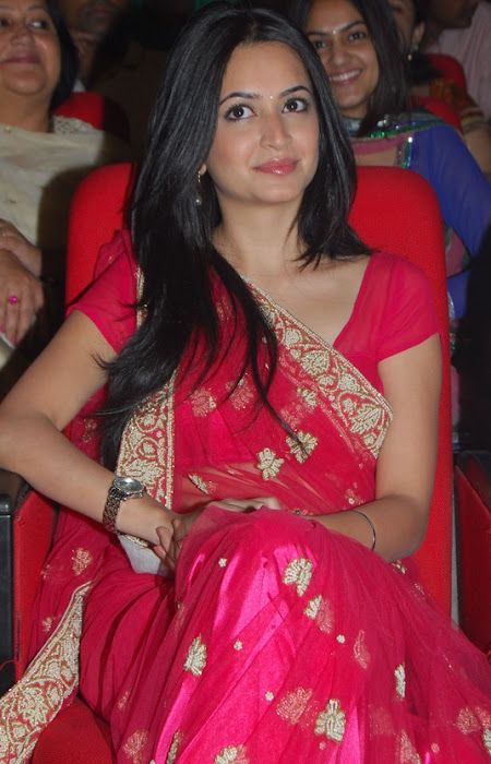 kriti kharbandha in red saree glamour  images