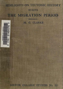 Cover of MG Clarke's Book Sidelights on Teutonic History During the Migration Period