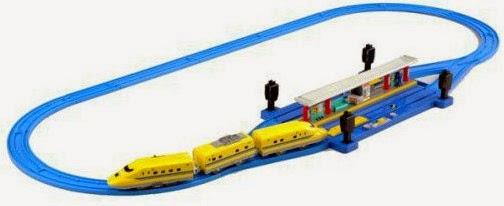 Bộ Nhà ga tránh tầu Auto Transfer Doctor Yellow Set Type923 sinh động