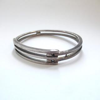 Sterling Silver Modernist Bracelet