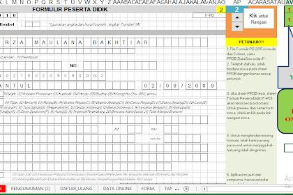 Aplikasi Excel PPDB SD dengan Form Peserta Didik Dapodikdas