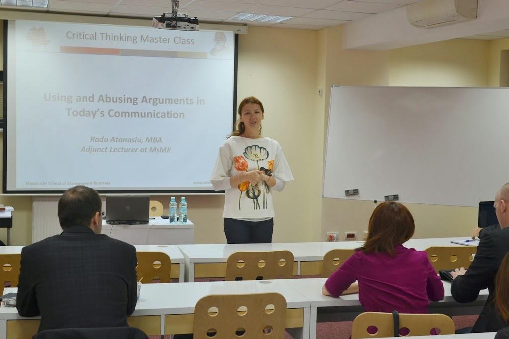Critical Thinking, Master Class with Radu Atanasiu 001