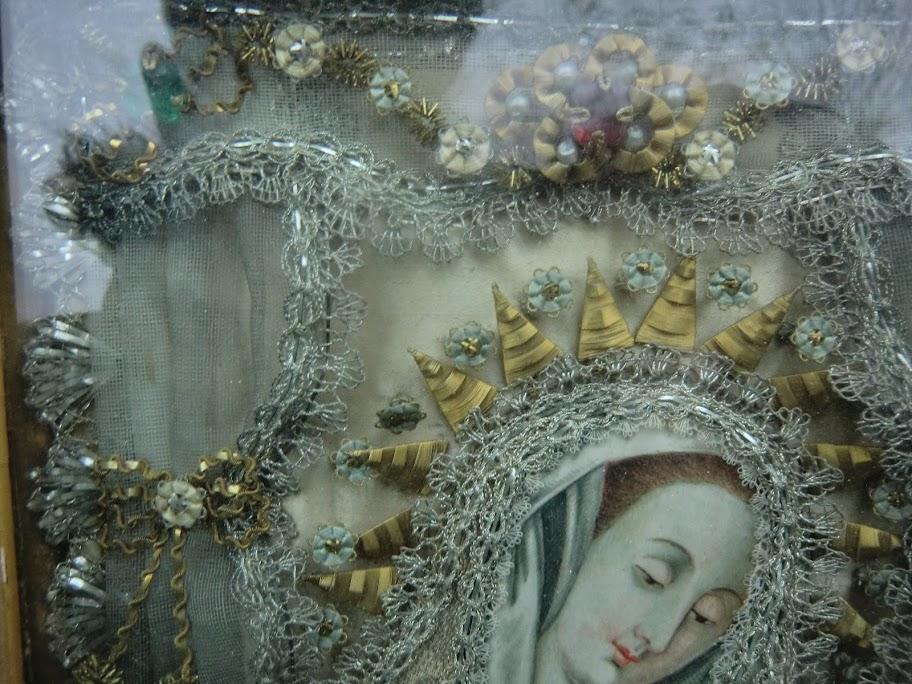 Ancien petit reliquaire xix me de sainte madeleine fix sous verre ebay - Fixe sous verre ancien ...
