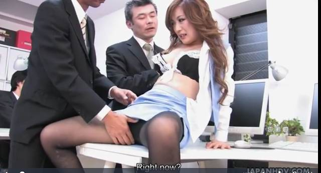 Alluring Japanese Hottie Gulps Two Dongs blowjob, threesome