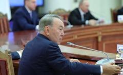 Nursultan Nazarbayev at the meeting of the Supreme Eurasian Economic Council.