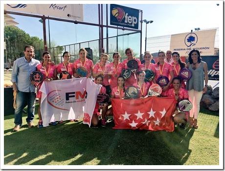 Madrid Campeones del Campeonato de España de Selecciones Autonómicas 2016.