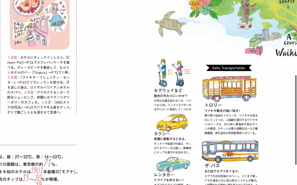 雑誌記事ページ拡大写真