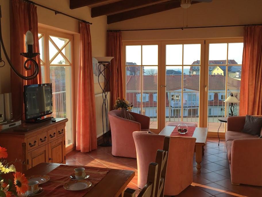 3-Zi-PENTHOUSE-Ferienwohnung in SEESTERN-Residenz im Ostseebad Kühlungsborn