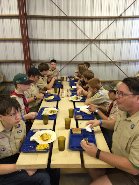 the Scoutmaster and his troop