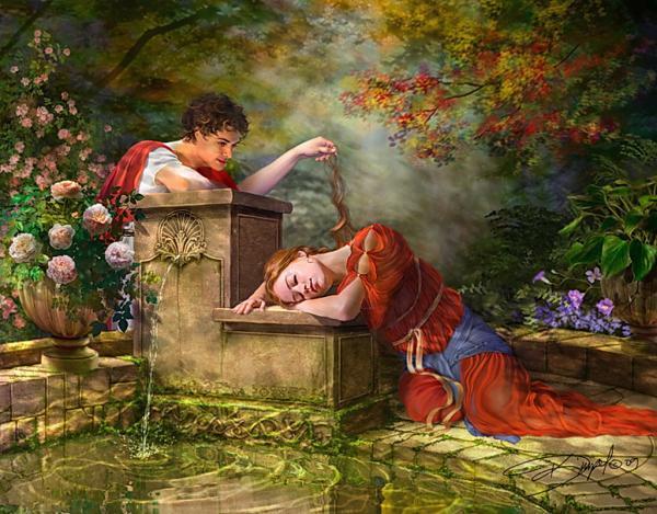 Sleeping Girl Near The Lake, Fairies 3