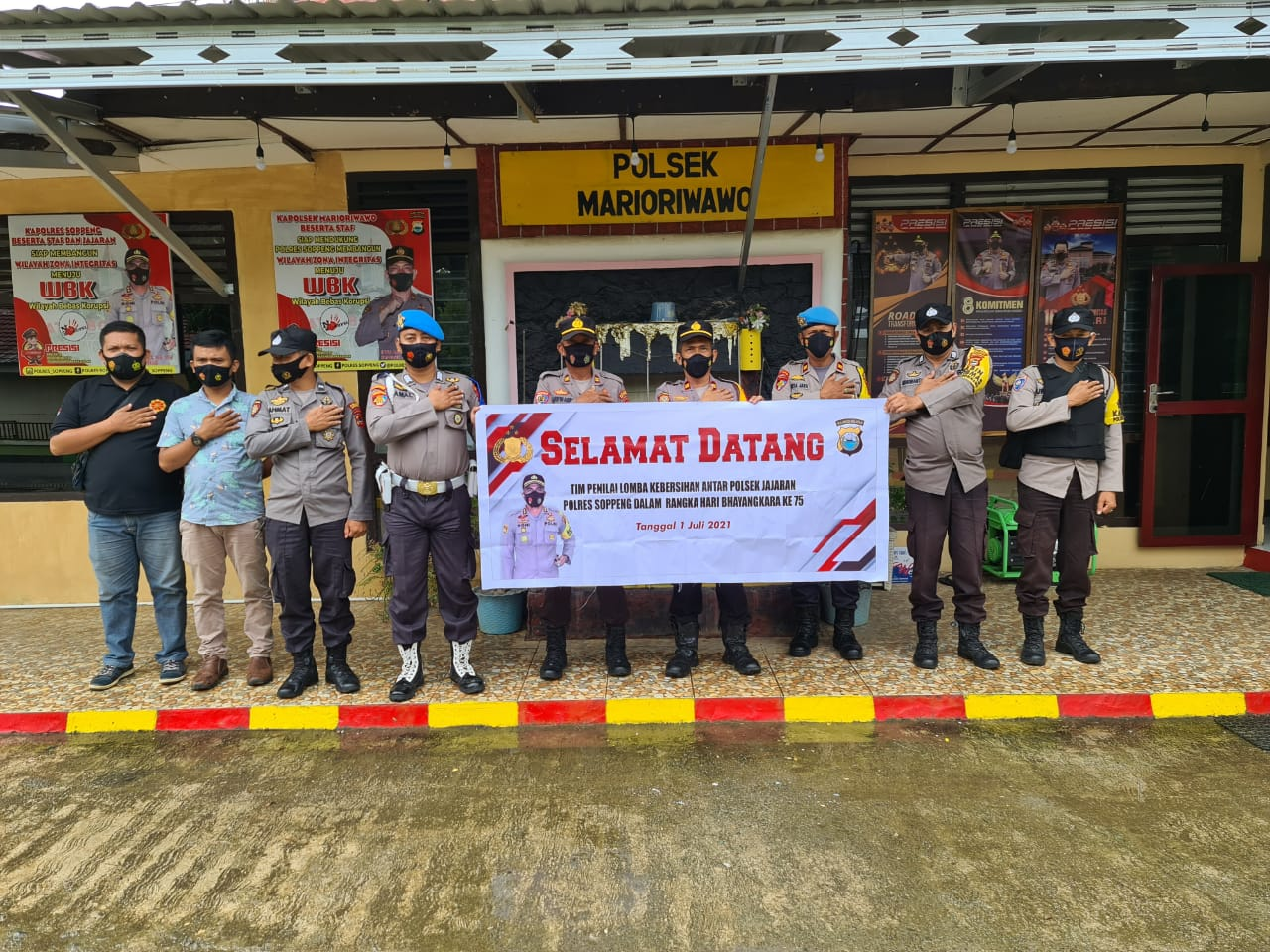 Sambut Hari Bhayangkara ke75, Polres Soppeng Laksanakan Lomba dan Bakti Sosial