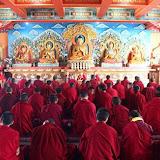 2015年10月18日印度拉瓦噶舉德千林寺立佩多傑佛學院佛法演講練習