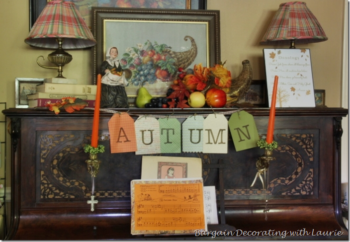 Thanksgiving Decor on Piano