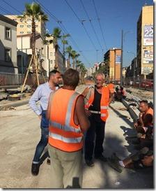 Lo sciopero degli operai in via Marina