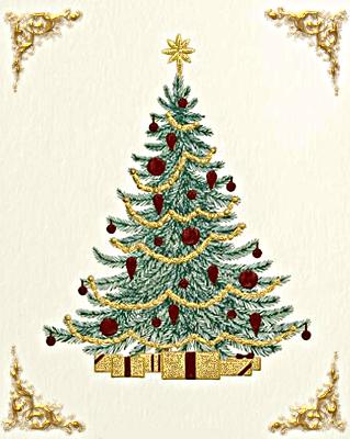 Árbol de Navidad vintage.