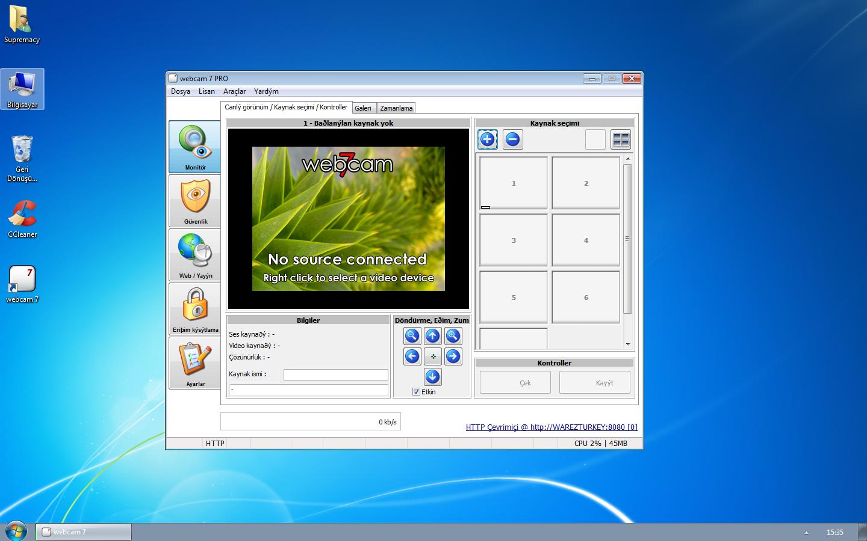 Webcam 7 PRO 1.5.3.0 Build 42150 Türkçe Full