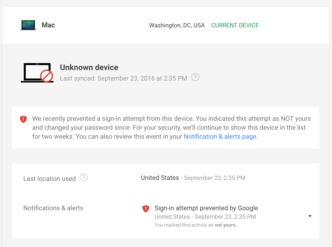 How to mark an Unknown Device as actually safe? - Gmail Help