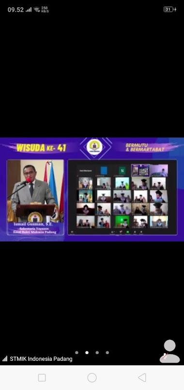 STMIK Indonesia Padang Gelar Wisuda ke 41 Secara Virtual