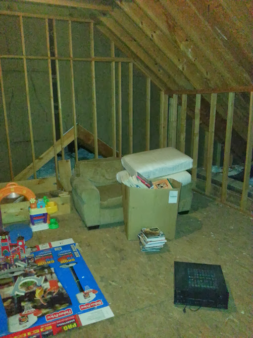 Attic space for home gym doityourself community forums