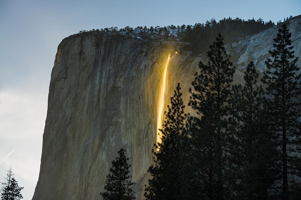 Yosemite Firefall, Horsetail fall